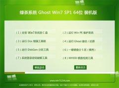 绿茶系统Win7 老机装机版64位 2021.04